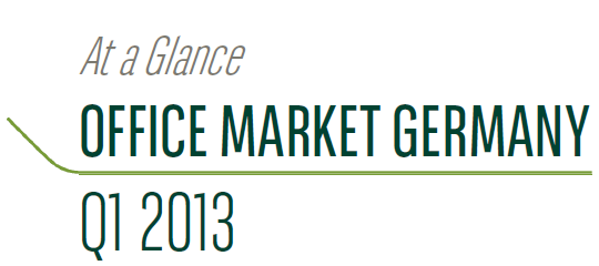 """The Regional Office Market in Germany, Q1 2013"" report prepared by BNP Paribas Real Estate has been published."
