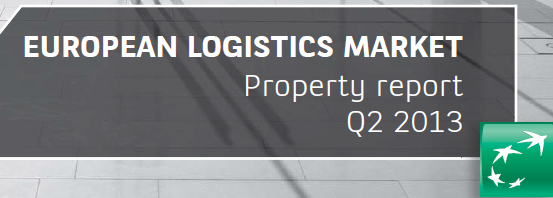 """The European Logistics Market, Q2 2013"" report prepared by BNP Paribas Real Estate was published."